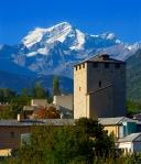 Альпийская деревня в Швейцарии